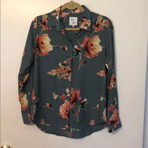 The Shirt by Rochelle Behrens Tops - Rochelle Behren's THE SHIRT floral button down